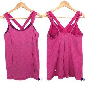 Lululemon Pink Athletic Tank Top Purple Shelf Bra